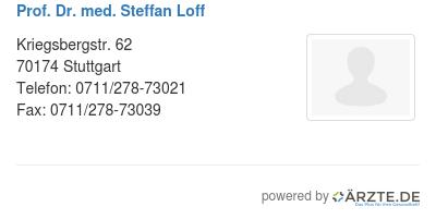 Prof dr med steffan loff