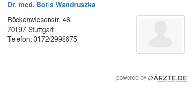 Dr med boris wandruszka