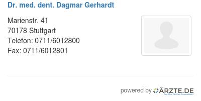 Dr med dent dagmar gerhardt