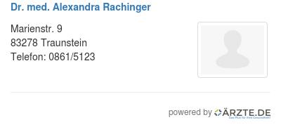 Dr med alexandra rachinger