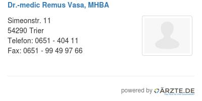 Dr medic remus vasa mhba