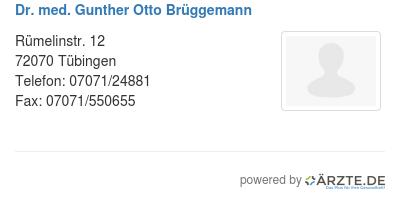Dr med gunther otto brueggemann