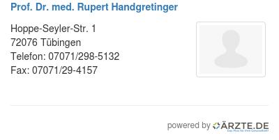 Prof dr med rupert handgretinger