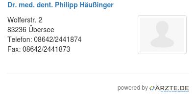 Dr med dent philipp haeussinger 580623