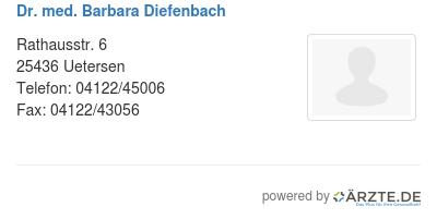 Dr med barbara diefenbach