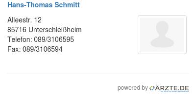 Hans thomas schmitt