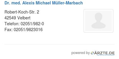 Dr med alexis michael mueller marbach