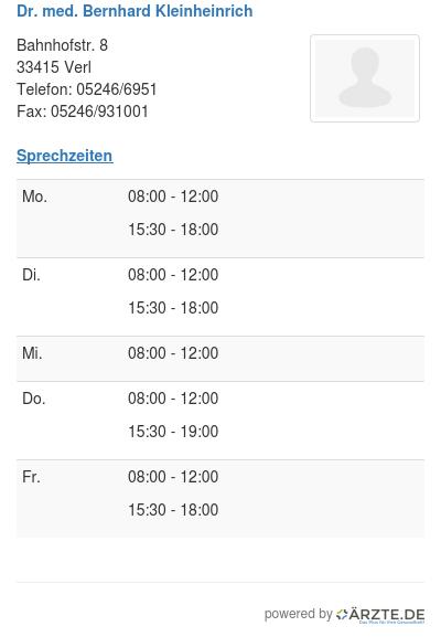 Dr med bernhard kleinheinrich