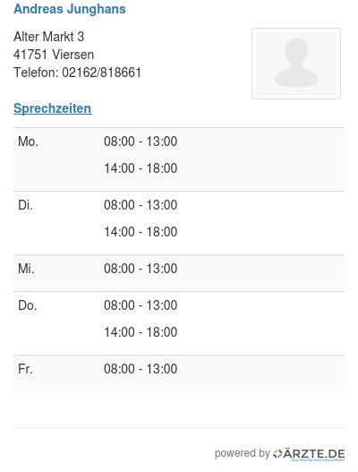 Andreas Junghans In 41751 Viersen Parodontologie Aerzte
