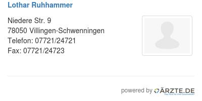 Lothar ruhhammer