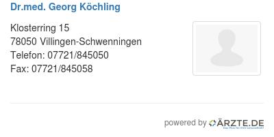 Dr med georg koechling