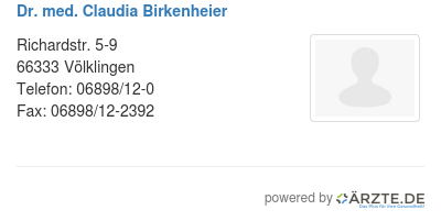 Dr med claudia birkenheier