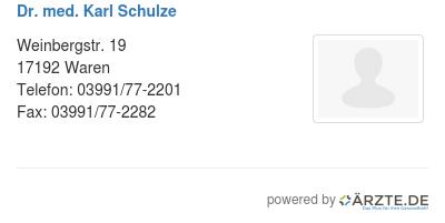 Dr med karl schulze 255974