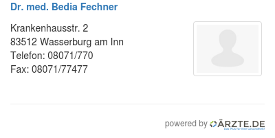 Dr med bedia fechner 540578