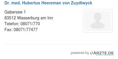 Dr med hubertus heereman von zuydtwyck