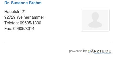 Dr susanne brehm
