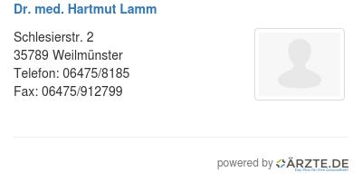 Dr med hartmut lamm 580912