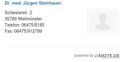 Dr med juergen steinhauer