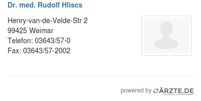 Dr med rudolf hliscs 579678
