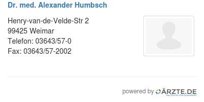 Dr med alexander humbsch 579618