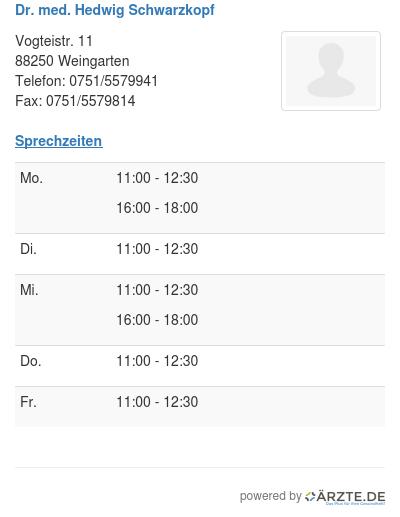Dr med hedwig schwarzkopf