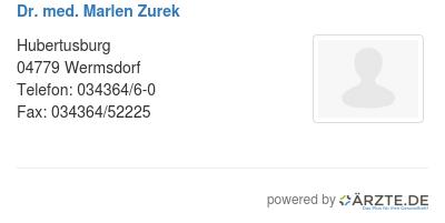 Dr med marlen zurek 579186