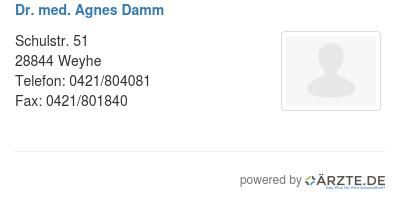 Dr med agnes damm 579240