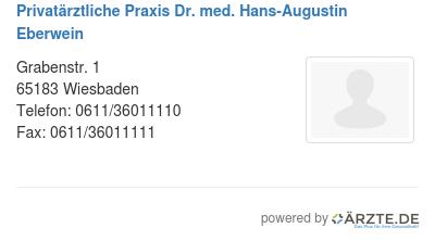 Privataerztliche praxis dr med hans augustin eberwein