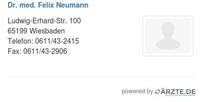 Dr med felix neumann