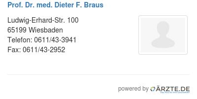 Prof dr med dieter f braus