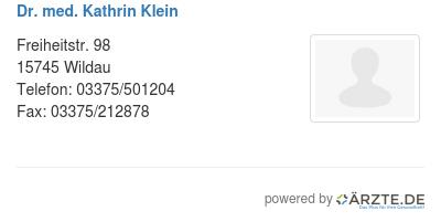 Dr med kathrin klein 253371