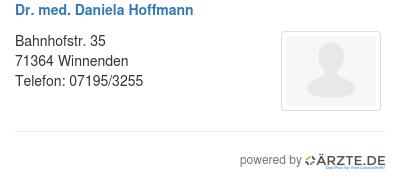 Dr med daniela hoffmann 579263