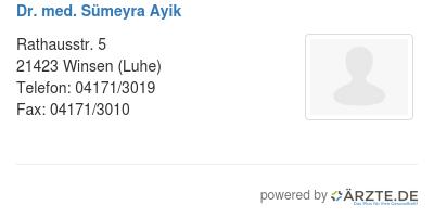 Dr med suemeyra ayik 547896