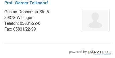 Prof werner tolksdorf