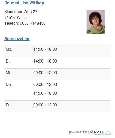 Dr med ilse wittkop