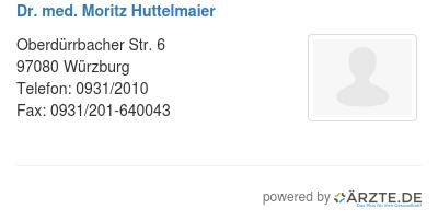 Dr med moritz huttelmaier