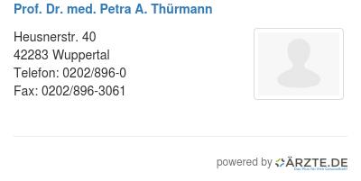 Prof dr med petra a thuermann