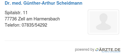 Dr med guenther arthur scheidmann