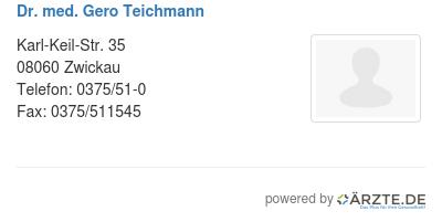 Dr med gero teichmann 580131