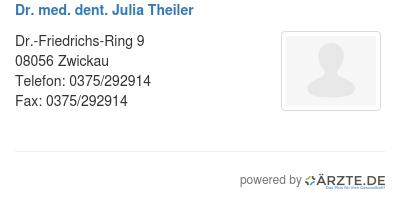 Dr med dent julia theiler